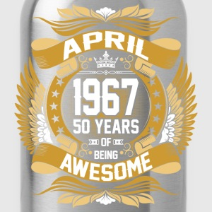 April 1967 50 Years Of Being Awesome T-Shirts - Water Bottle