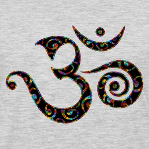 Om, Colors, Buddhism, Sound of Universe, Yoga T-Shirts - Men's Premium Long Sleeve T-Shirt