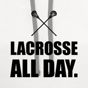 Lacrosse All Day - Contrast Hoodie