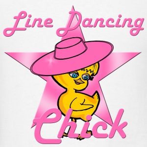 Line Dancing Chick Pink Tanks - Men's T-Shirt