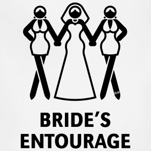 Bride's Ent. (Hen Night,Bachelorette Party) Shirt - Adjustable Apron