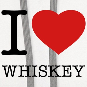I LOVE WHISKEY - Contrast Hoodie