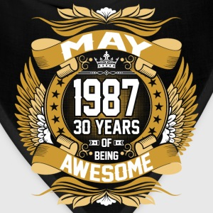 May 1987 30 Years Of Being Awesome T-Shirts - Bandana