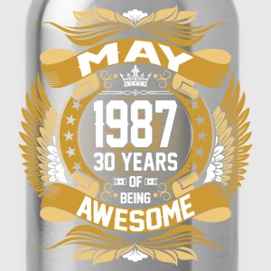 May 1987 30 Years Of Being Awesome T-Shirts - Water Bottle