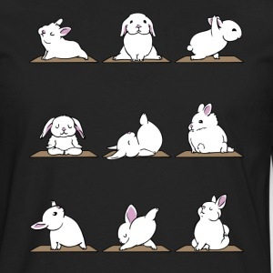 Funny Bunnies Yoga - Yoga Lover Shirt - Men's Premium Long Sleeve T-Shirt