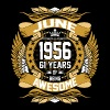 June 1956 61 Years Of Being Awesome T-Shirts - Men's Premium T-Shirt