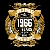 June 1966 51 Years Of Being Awesome T-Shirts - Men's Premium T-Shirt