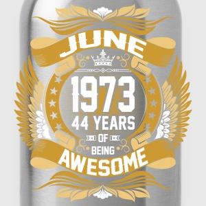 June 1973 44 Years Of Being Awesome T-Shirts - Water Bottle