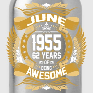 June 1955 62 Years Of Being Awesome T-Shirts - Water Bottle
