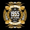 June 1955 62 Years Of Being Awesome T-Shirts - Men's Premium T-Shirt