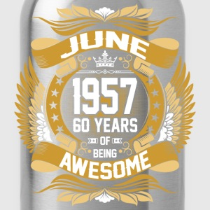 June 1957 60 Years Of Being Awesome_ T-Shirts - Water Bottle