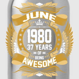 June 1980 37 Years Of Being Awesome T-Shirts - Water Bottle