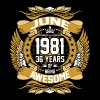 June 1981 36 Years Of Being Awesome T-Shirts - Men's Premium T-Shirt