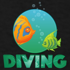 diving_fishes_holidays03 Mugs & Drinkware - Men's T-Shirt