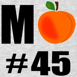 M Peach Number 45 With Big Peach - Men's T-Shirt