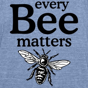 Every Bee Matters Beekeeper Design Long Sleeve Shirts - Unisex Tri-Blend T-Shirt by American Apparel
