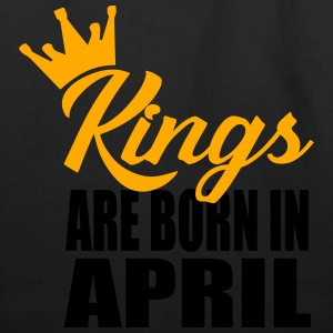 kings are born in april T-Shirts - Eco-Friendly Cotton Tote