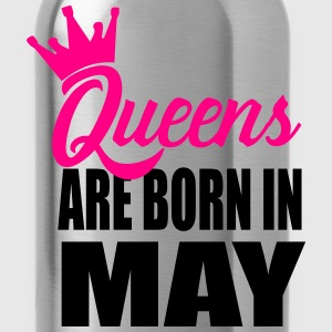 queens are born in may T-Shirts - Water Bottle