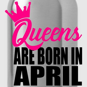 queens are born in april T-Shirts - Water Bottle
