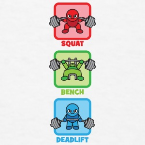 Kawaii Powerlifter - Squat, Bench Press, Deadlift Accessories - Men's T-Shirt
