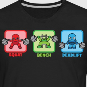 Kawaii Powerlifter - Squat, Bench Press, Deadlift T-Shirts - Men's Premium Long Sleeve T-Shirt
