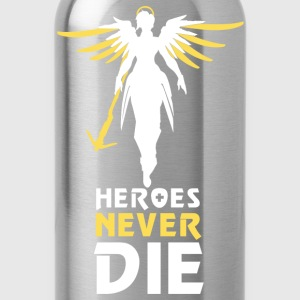 Heroes Never Die (White) - Water Bottle