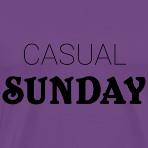 Casual Sunday Hoodies - Men's Premium T-Shirt