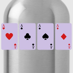 Card Game, Poker, Ace Kids' Shirts - Water Bottle