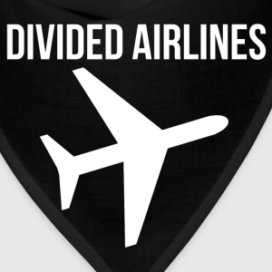 Fly DIVIDED AIRLINES Airplane Graphic Design Tee T-Shirts - Bandana