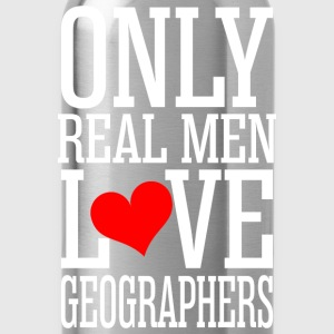 Only Real Men Love Geographers T-Shirts - Water Bottle