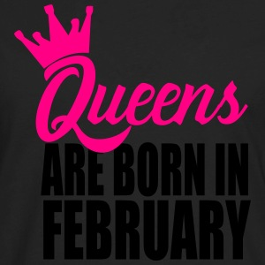 queens are born in februa T-Shirts - Men's Premium Long Sleeve T-Shirt