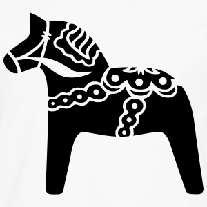 Swedish dala horse - Men's Premium Long Sleeve T-Shirt