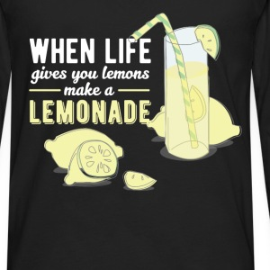 Inspiration - When life gives you lemons make a le - Men's Premium Long Sleeve T-Shirt