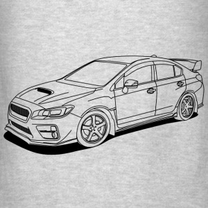 Subaru wrx sti outlines Hoodies - Men's T-Shirt