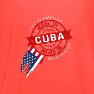 I was born cuba, i live in usa now - Women's Flowy Tank Top by Bella