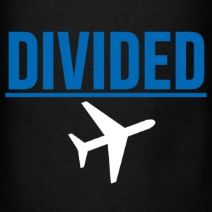 Fly DIVIDED Airlines Meme Air Plane Graphic Design Hoodies - Men's T-Shirt