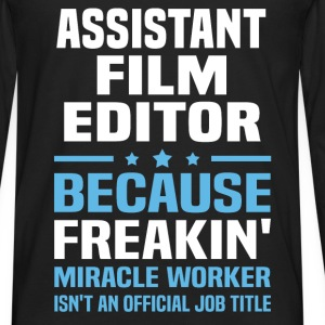Assistant Film Editor - Men's Premium Long Sleeve T-Shirt
