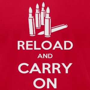 Reload and Carry On Tanks - Men's T-Shirt by American Apparel