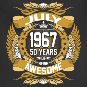 July 1967 50 Years Of Being Awesome T-Shirts - Adjustable Apron