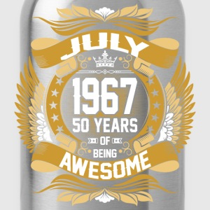 July 1967 50 Years Of Being Awesome T-Shirts - Water Bottle