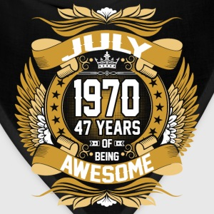 July 1970 47 Years Of Being Awesome T-Shirts - Bandana