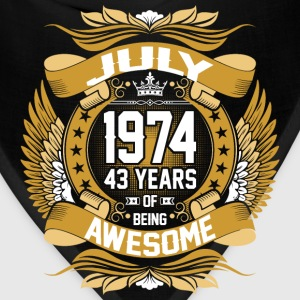 July 1974 43 Years Of Being Awesome T-Shirts - Bandana