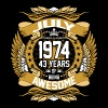 July 1974 43 Years Of Being Awesome T-Shirts - Men's Premium T-Shirt