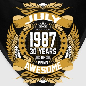 July 1987 30 Years Of Being Awesome T-Shirts - Bandana