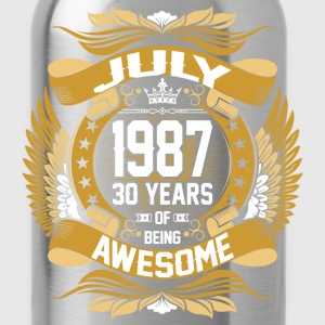 July 1987 30 Years Of Being Awesome T-Shirts - Water Bottle