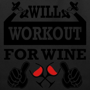Will Workout For Wine T-Shirts - Eco-Friendly Cotton Tote