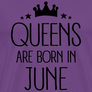 Queens Are Born In June Hoodies - Men's Premium T-Shirt