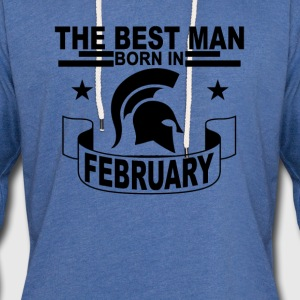 best_man_born_in_february_ - Unisex Lightweight Terry Hoodie