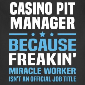 Casino Pit Manager - Adjustable Apron