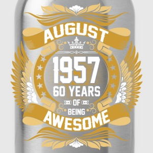 August 1957 60 Years Of Being Awesome T-Shirts - Water Bottle